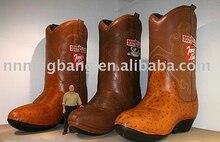 Freies verschiffen 5 mt hohe riesigen werbung braun aufblasbare boot/aufblasbare schuhe für förderung