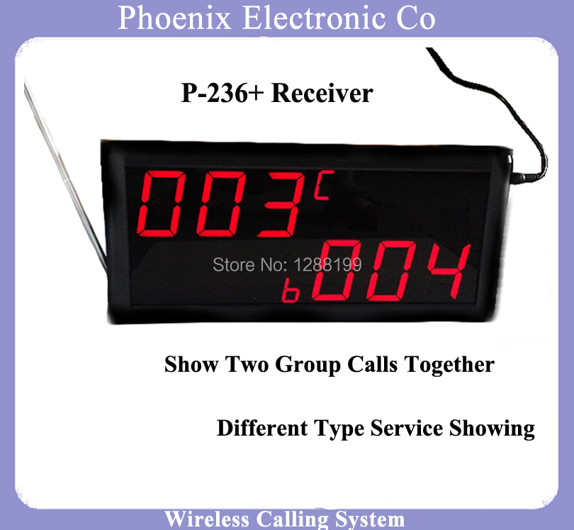 Display Receiver of Restaurant Waiter Call Bell Systems Bell System Show Table Bell Number Can work with Pager Watch & Call Bell hot selling restaurant wireless waiter buzzer call button system 1 display 2 black watch pager 30 black table call bells