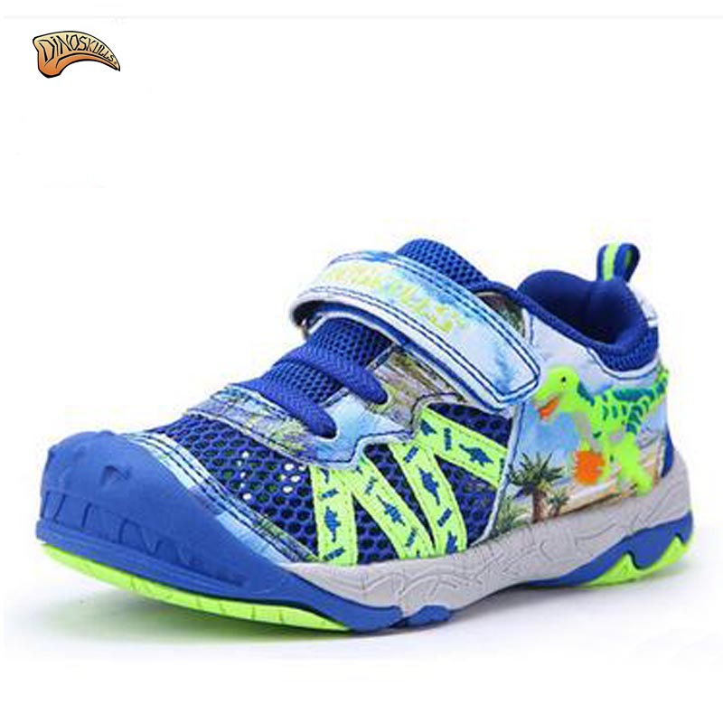 Dinoskulls 2017 Fashion Kids Sneakers Boys Casual Shoes Children Breathable Mesh Running Sports Shoes 3D Dinosaur Baby Shoes  children s shoes girls boys casual sports shoes anti slip breathable kids sneakers spring fashion baby tide children shoes