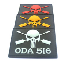 ODA Pirate Skull Punisher Army Morale 3D PVC Badge Swat Patch Rubber Military Tactical Armband Patches