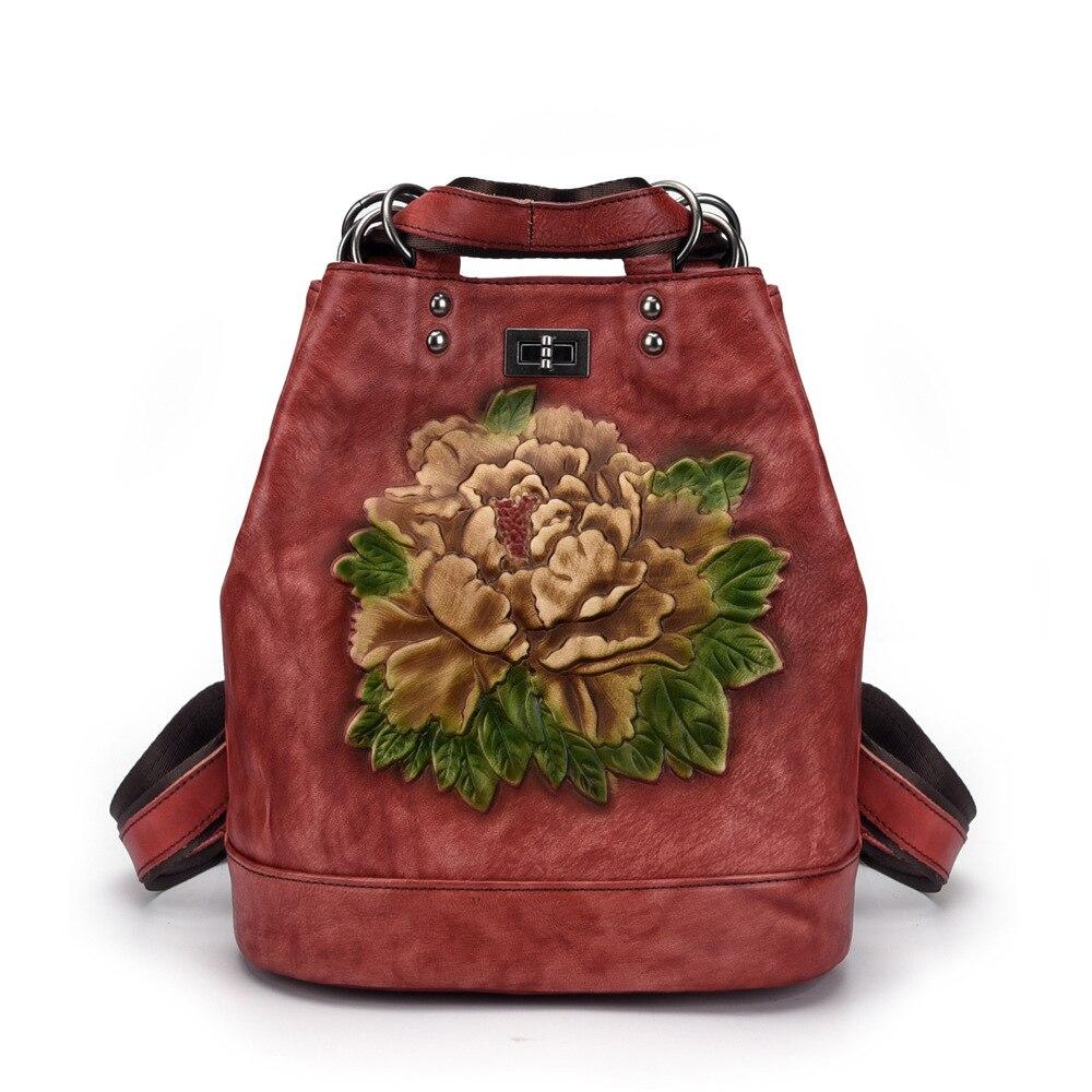 2019 новый ретро 100% из натуральной кожи корейской версии мужской рюкзак большой емкости кожаный рюкзак для путешествий мужские сумки - 3
