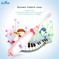 Children Cute Cartoon Kid Baby Sonic Waterproof Electric Toothbrushes Soft Bristle Smart Automatic Teeth Brush LED