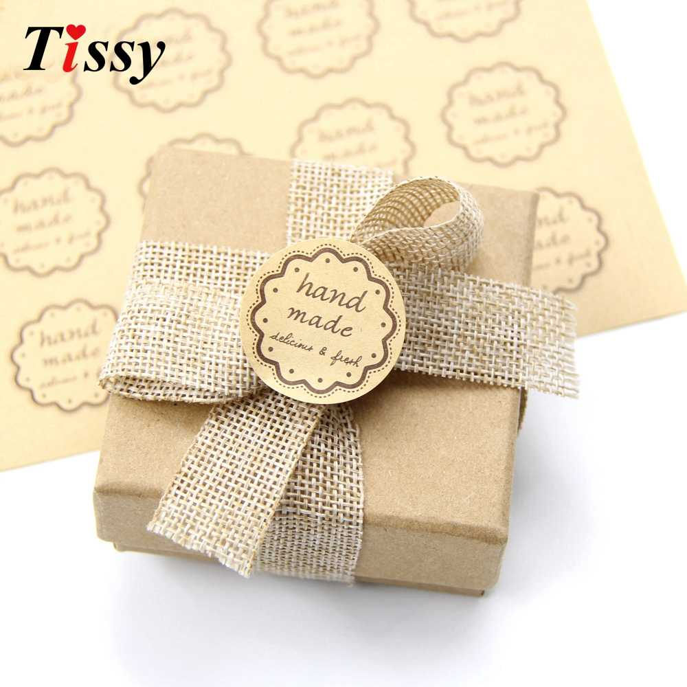 779b09fb021c 80PCS DIY Handmade Paper Stickers Label Sticker Tags Biscuit Gifts ...