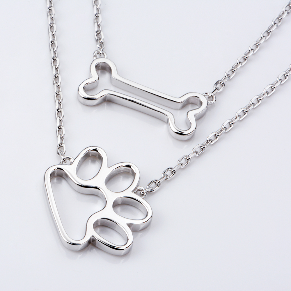 bone pure products dog tag finer real limited animal pendant print edition silver gold pet caad dogs sterling necklace paw