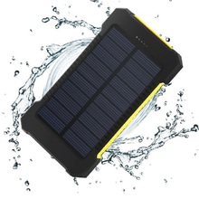 Waterproof Solar Replacement Batteries for Phones Real 20,000 mAh Dual USB External Polymer Battery Battery Charger Outdoor Ligh