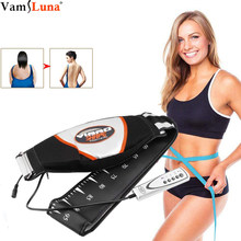 Waist Vibrating Massager, Electric Body Slimming Massager Belt Muscle Burning Fat Weight Losing Trimmer Health Care Tools(China)