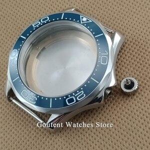Image 3 - Sıcak Satış 41mm gümüş saat Durumda Süper Parlak Çerçeve Fit ETA 2836 MIYOTA 8215 821A Otomatik Hareket
