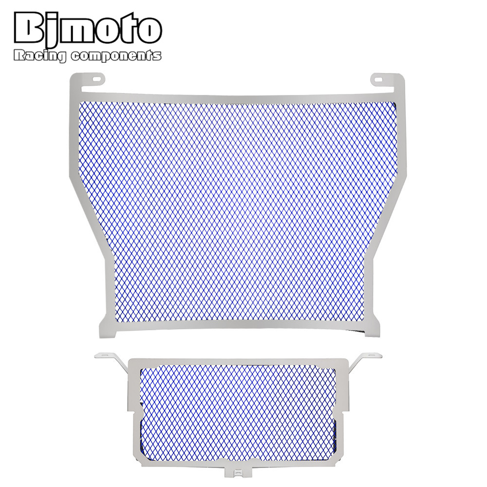 BJMOTO Motorcycle Stainless Steel Radiator Guard Grill Grille Cover Protector For BMW S1000RR 2010-2016 S1000R S1000XR HP4 motorcycle radiator grille grill guard cover protector golden for kawasaki zx6r 2009 2010 2011 2012 2013 2014 2015