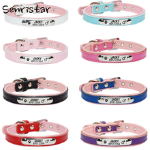 Personalized Engraved Pet Dog Tag Collar For Small Medium Large Dogs Neck Strap Custom Name ID Puppy Cat Leather Anti-lost