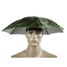 2018 Headwear Umbrella for Fishing Hiking Beach Cap Head Hats Outdoor Camping Equipment Rain Gear Umbrellas Foldable Hat