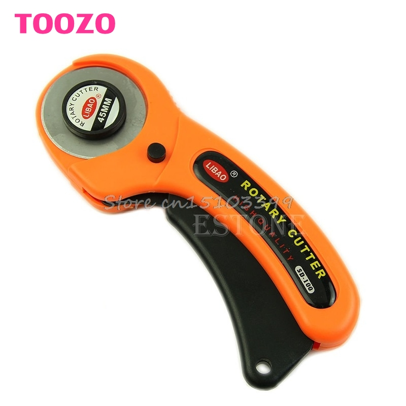 45mm Rotary Cutter Premium Quilters Costura Acolchado Tela Craft Tool G08 Whosale & DropShip