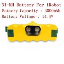 14.4 В 3000 мАч Ni-Mh Аккумуляторов для iRobot Roomba 620 610 630 650 660 пылесос части