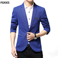 2017 New Arrival Brand Blazer Mens Fashion Solid Color Suit Men Jackets Coats Casual Suit Blazers Male Plus Size