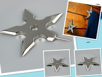 1 Pcs High Quality Stainless Steel Ninja Throwing Star Dart Shape Coat Robe Hooks Hat Hanger