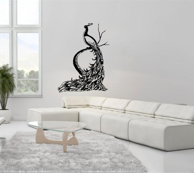Wall Decal Vinyl Sticker Peacock Peafowl Bird Tail Animal Houseware Living  Room Decoration Wall Art Design Part 77