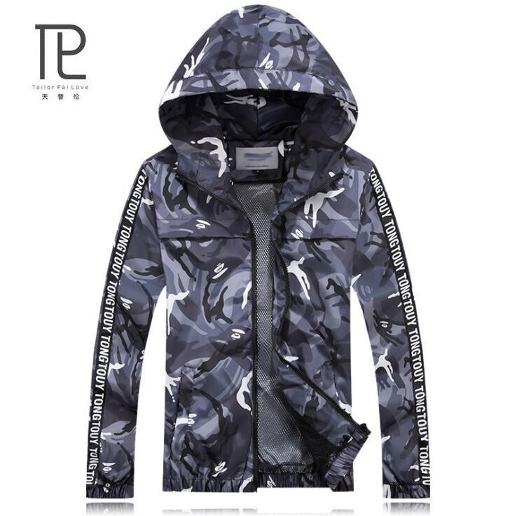 Men Jackets 2017 New Hot Sale Man Hooded Thin Jackets Male Hoodie Thin Windbreaker Lightweight Slim tactical M-3XL #b22