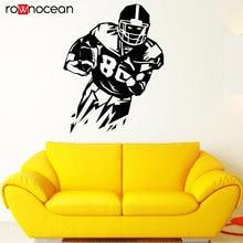 American Football Player Decal Sports Wall Art Vinyl Sticker DIY Decoration For Boys Bedroom ,dorm 3Y37