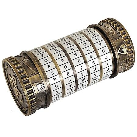Cryptex rétro cadeaux d'anniversaire créatifs Da Vinci Code serrure Mini Da Vinci Code Cryptex serrure jouet puzzle innovant cadeau - 2