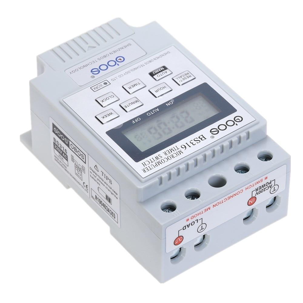Nuovo commutatore timer digitale a barra DIN KG316T AC 220 V 50 HZ / - Strumenti di misura - Fotografia 4