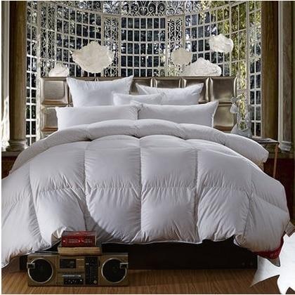 95%White Goose Down Comforter Cotton Tribute Silk Thickening Winter Quilts edredon casal Duvet Blanket solteiro edredom colcha