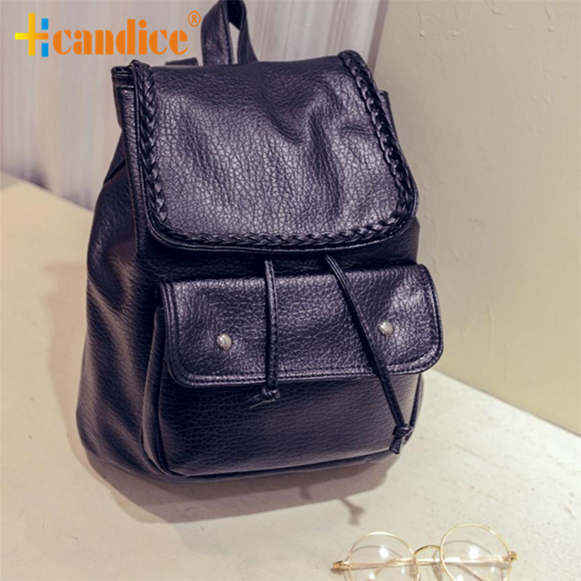 Best Gift Hcandice New Fashion Women Leather Backpack Rucksack Travel School Bag Shoulder Bags Satchel drop