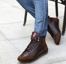 Top Fashion Men Ankle Boots Casual Canvas Shoes Patchwork Lace Up Flat Heel Shoes For Man