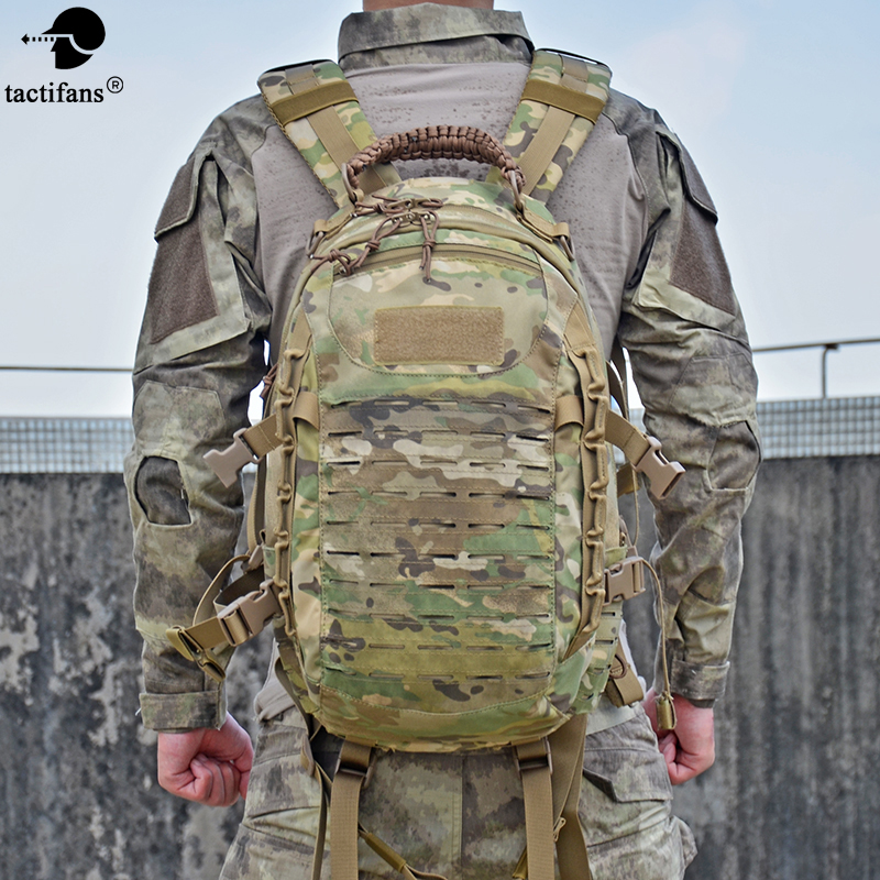 Tactical Military Backpack Hiking Outdoor Hunting Bag EDC Tactical Gears Laser Cut Molle PALS Multicam Bag