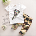 Baby Boy Clothes Summer 2017 New Fashion Kids Boys Clothes Children Toddler Boys Clothing Set T-shirt + Pants 100 % Cotton T520