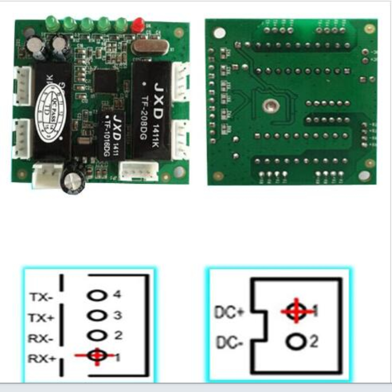mini design ethernet switch circuit board for ethernet switch module 10/100mbps 5 port PCBA board 5