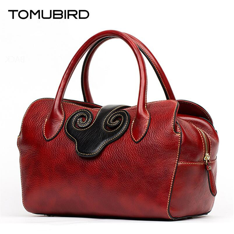 TOMUBIRD 2016 new superior cowhide leather famous brand women bag retro fashion women genuine leather handbags shoulder bag tomubird tomubird 2017 new chinese limelight cowhide small square bag high end retro shoulder messenger bag