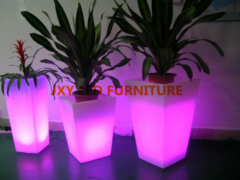 LED Flower Pot Light Round Colour Change Plastic Flower Pot Decorate  Indoor/outdoor/garden/holiday In Flower Pots U0026 Planters From Home U0026 Garden  On ...