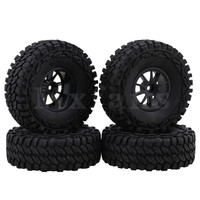 Mxfans Black 1 9 Inch Plastic Wheel Rubber Tire For RC 1 10 Rock Crawler Pack