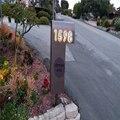 Tomada de fábrica de volta iluminado aço Inoxidável LEVOU o número de Casa, número da casa, 3D led doorplate número