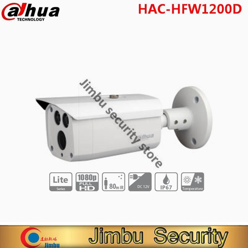 DAHUA HAC-HFW1200D HDCVI security camera 1080P Bullet Camera 1/2.7 2MPCMOS 1080P IR 80M IP67 dahua hdcvi 1080p bullet camera hac hfw1200d 1 2 7 2megapixel cmos 1080p ir 80m ip67 security camera