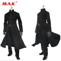 1:6 scale wired black coat clothing suits black cape with diamond coat set for 12 action figure male man nude body