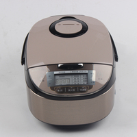 DMWD 4L Stainless Steel Electric Rice Cooker Multicooker Steamer Food Warmer Saucepot 8 Menus 24 Hours Appointment 220V