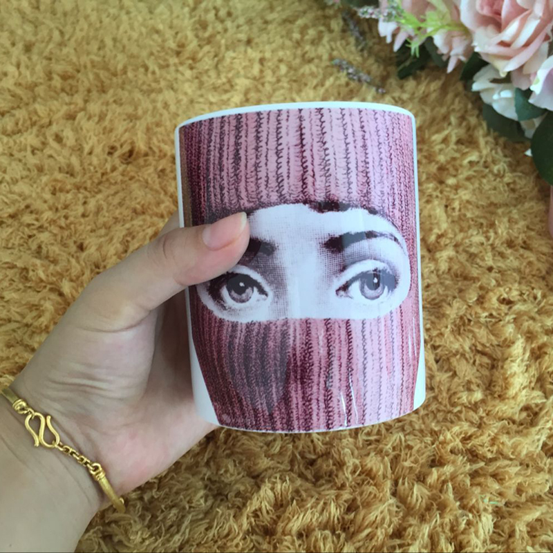 Piero Fornasetti Bone China Coffee Cups Ceramic Tea Cup Heat Sensitive Coffee Milk Tea M ...