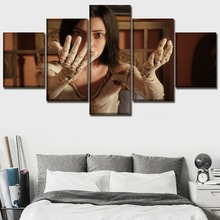 Home Decoration Modular Pictures Framework Wall Art 5 Pieces Alita Battle Angel Anime Movie 2018 Canvas HD Printed Painting