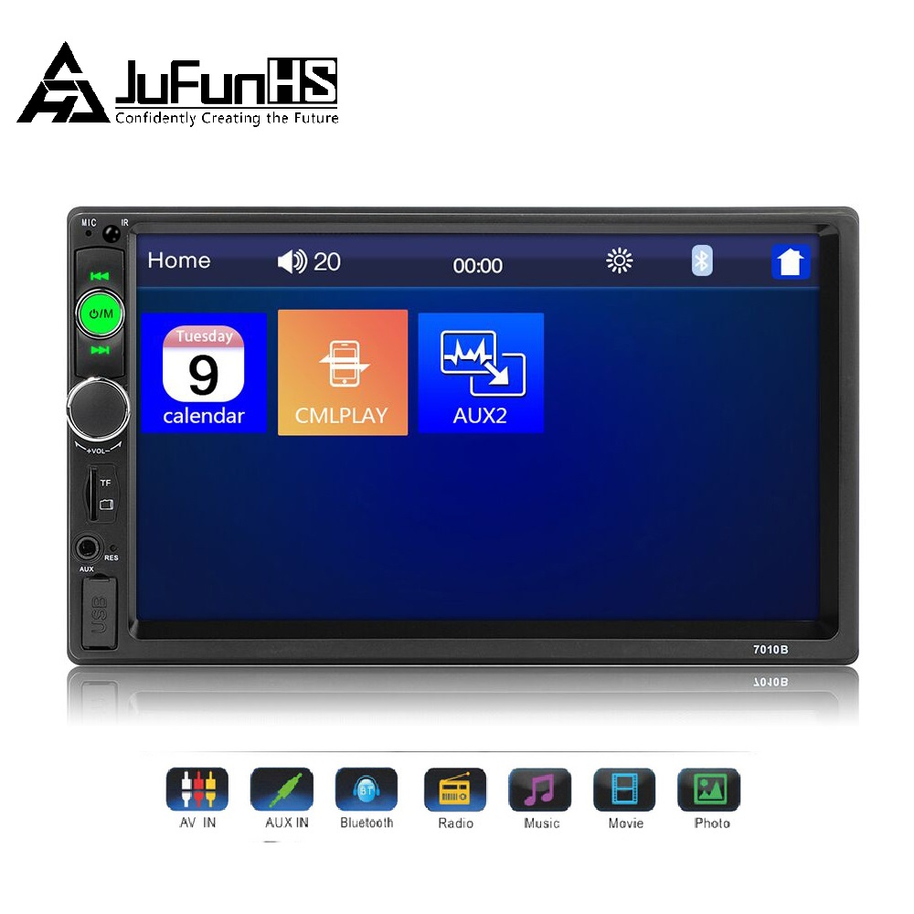 7 Car Multimedia Player 2 Din HD Auto Radio Digital Touch Screen Audio Stereo MP5 Bluetooth USB TF FM Car Radio Display image
