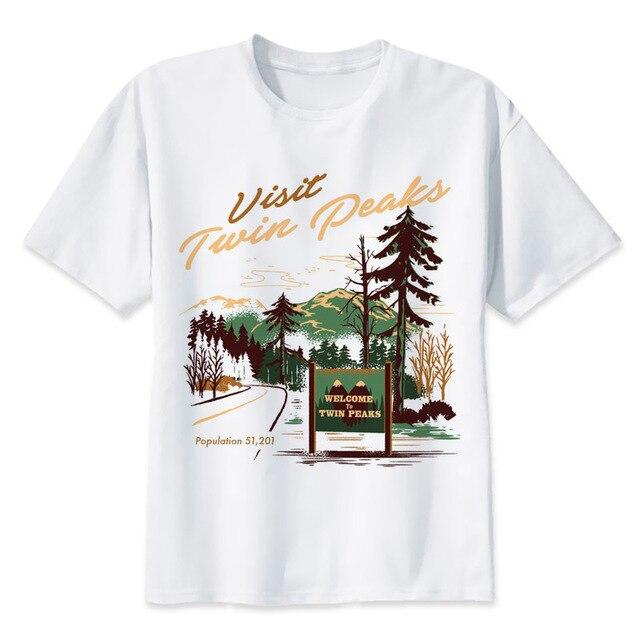 c25358f8c Twin Peaks t shirt Men Print T-Shirts Fashion Print T-Shirts Short Sleeve O  Neck Tees MR2283