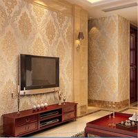 Beibehang Papel De Parede 3d High End European Damascus Diamond Wallpaper Bedroom Living Room Non Woven