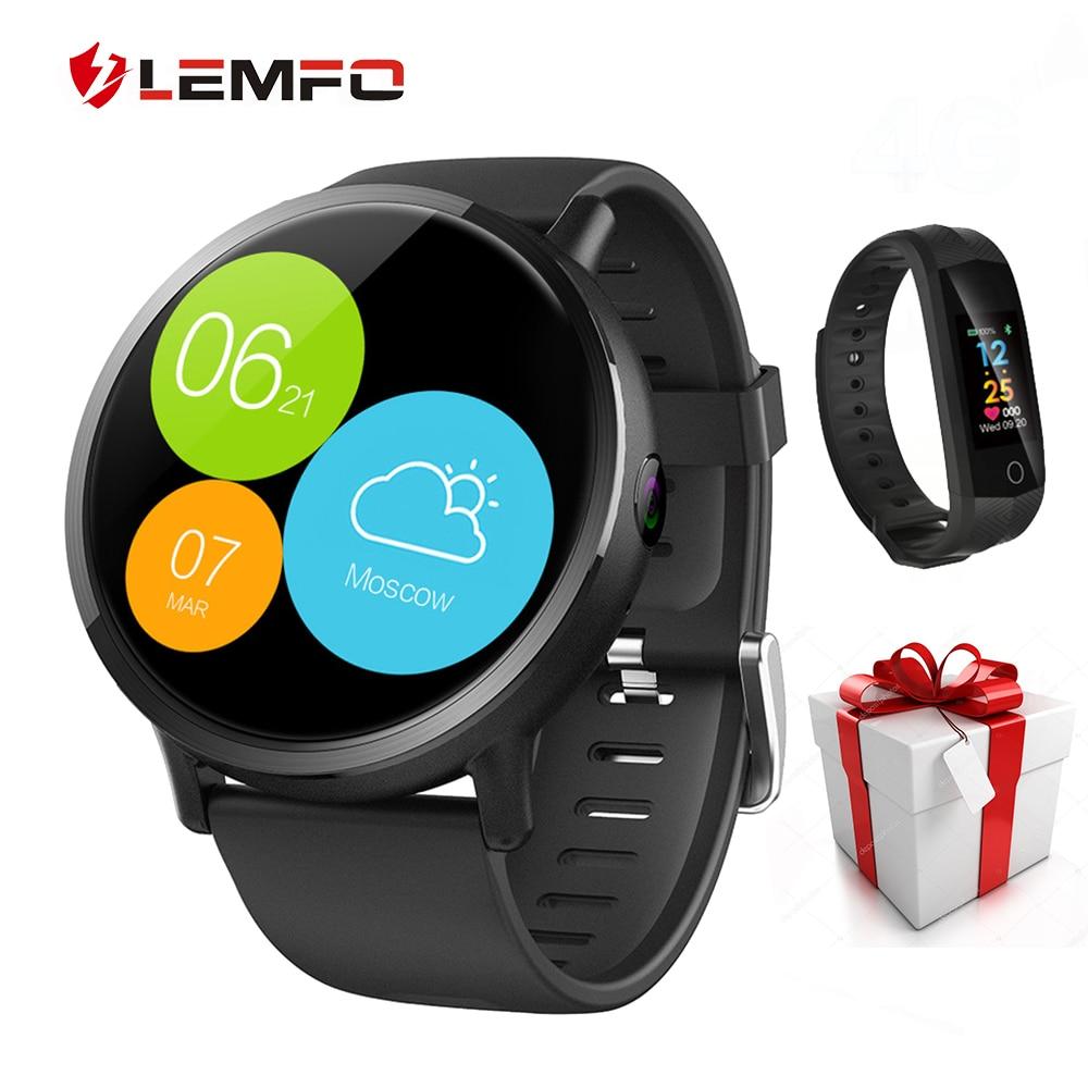 LEM X 4G Astuto Della Vigilanza del Android 7.1 Supporto GPS Sim WIFI 2.03 Pollici di Schermo 8MP Macchina Fotografica Frequenza Cardiaca LEMFO LEMX Smartwatch per le Donne Degli Uomini