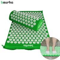 Beurha Acupressure Pillow Set Massage Pad Chair Cushion Neck Stress Relax Massager Headache Yoga Mat Free