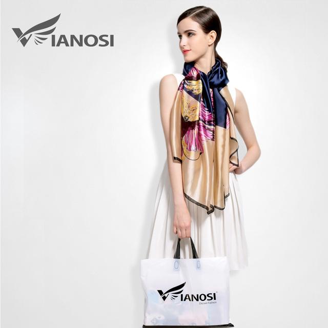 Woman Floral Silk Scarf