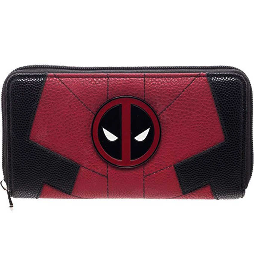 Women Long Wallet Large Capacity Wallets Female Purse Marvel Comics Deadpool Juniors Suit Up Zip Around Wallet