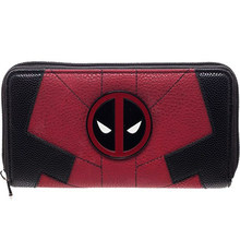 Women Long Wallet Large Capacity Wallets Female Purse Marvel Comics Deadpool Juniors Suit Up Zip Around Wallet(China)