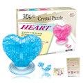 Кэндис го! Новое поступление горячая распродажа пластиковые игрушки 3D кристалл любовь розовое фиолетовый синий модель смешная игра творческий подарок 1 шт.