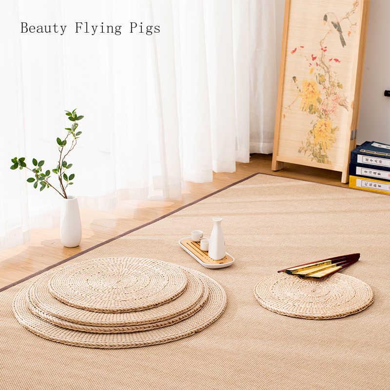 Pastoral style grass tuft Pu pad yoga mat tatami mat window window tea cushion steaming room Puca mat meditating meditation mat