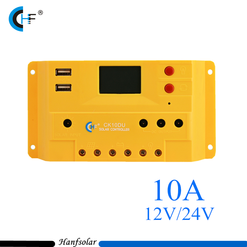 2pcs Lot 10a 12v 24v Real Pwm Solar Charge Controller For System Lcd Display Usb 5v Output