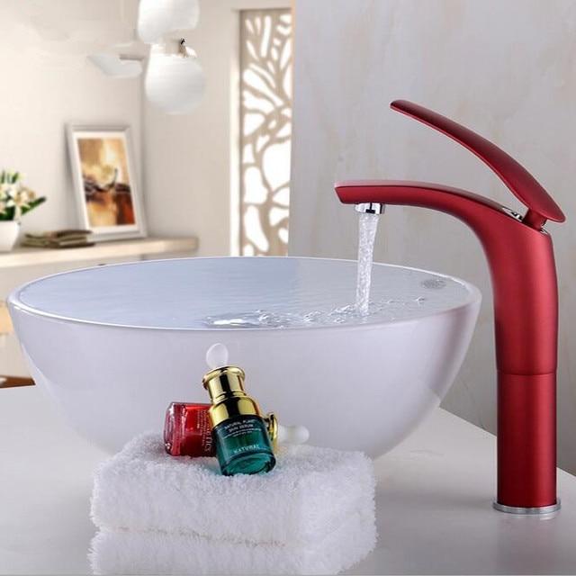 Coloré salle de bains robinet Noir blanc grue Salle De Bains évier
